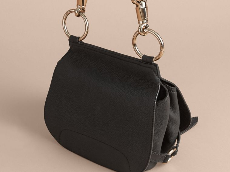 The Bridle Bag in Deerskin in Black - Women | Burberry - cell image 4