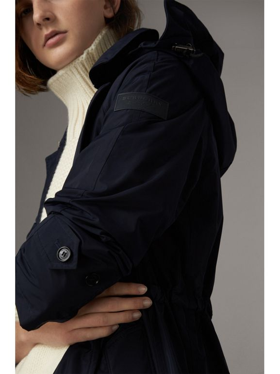 Detachable Hood Showerproof Car Coat in Navy - Women | Burberry Australia - cell image 1