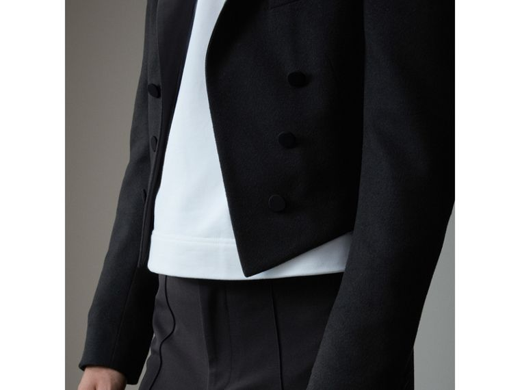 Felted Wool Tailcoat in Black - Men | Burberry - cell image 4