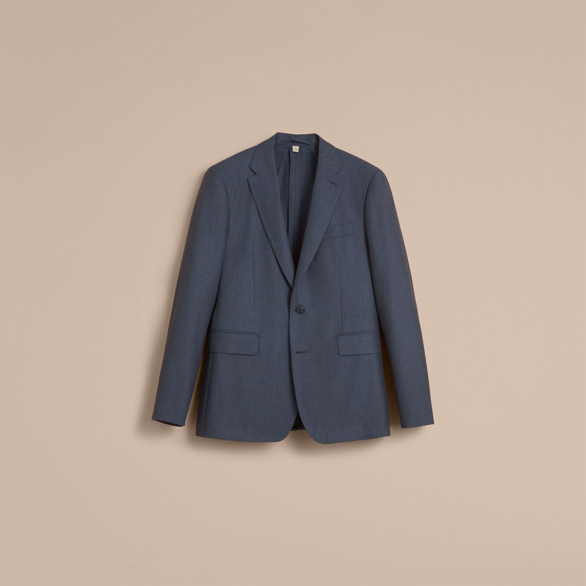 Soho Fit Wool Flannel Suit in Petrol Blue Melange - Men | Burberry - gallery image 4