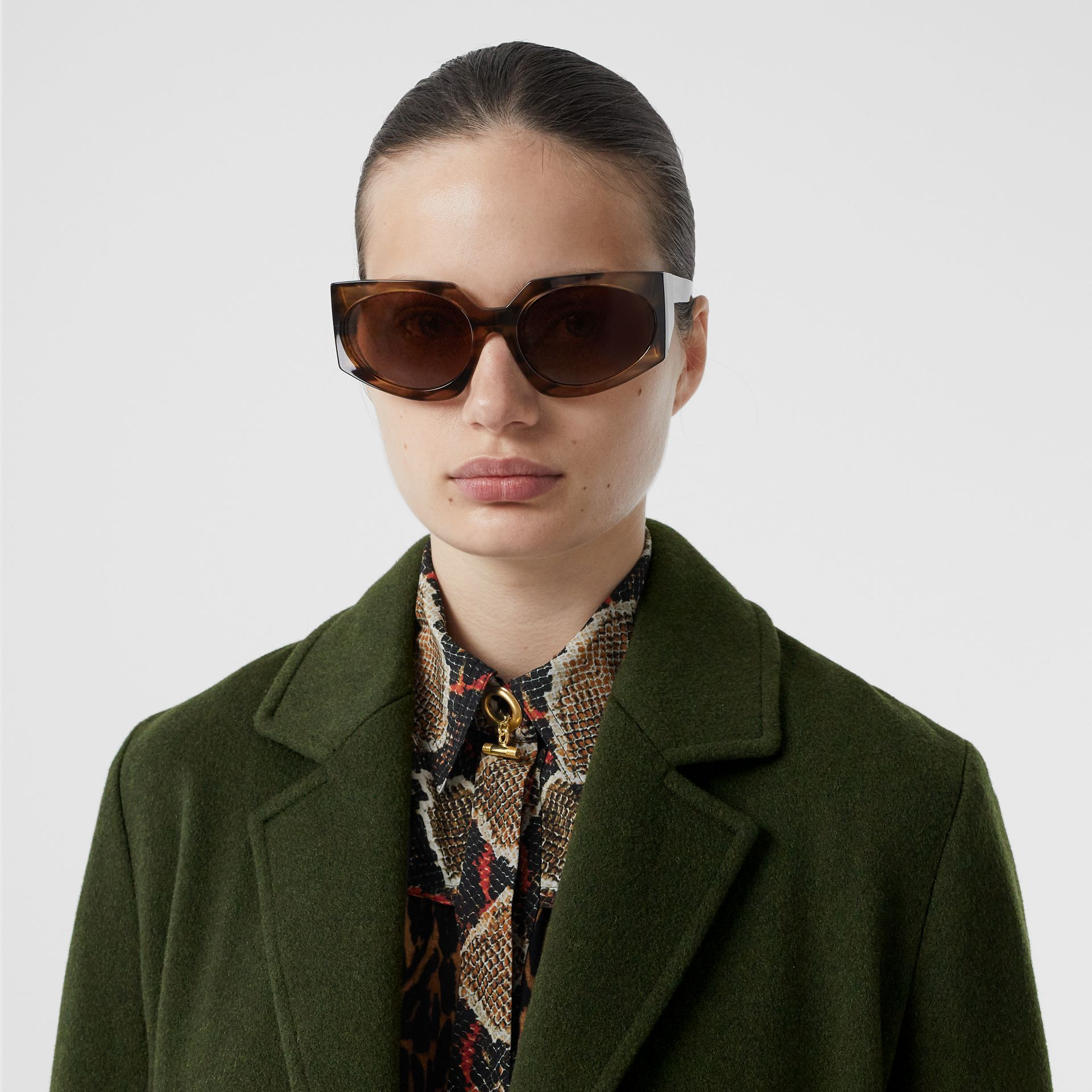 Cashmere Wrap Coat in Forest Green - Women | Burberry - gallery image 1