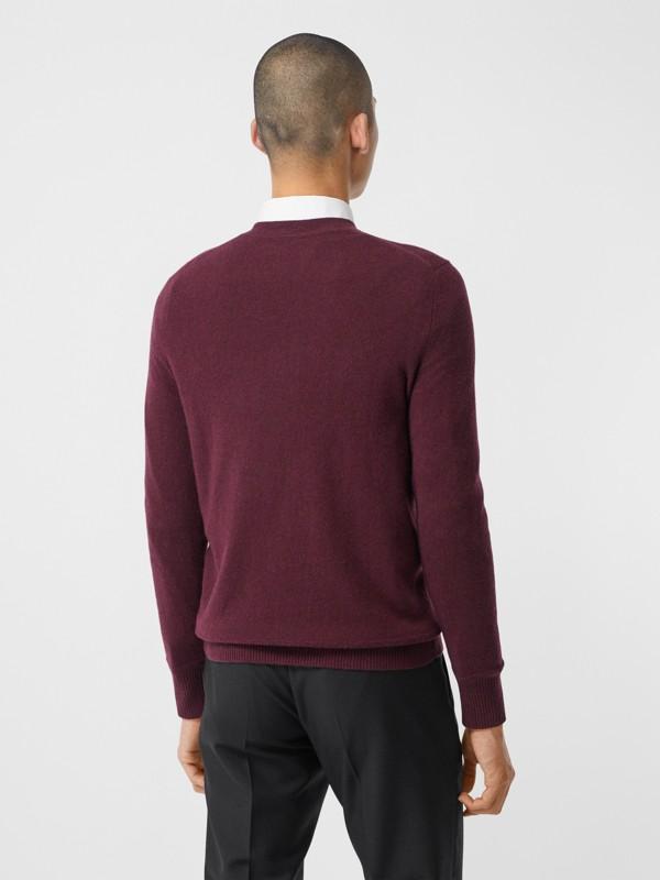 모노그램 모티프 캐시미어 스웨터 (버건디) - 남성 | Burberry - cell image 2