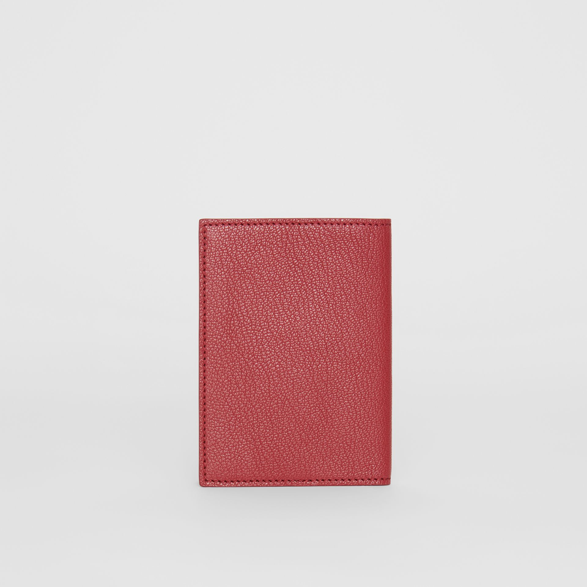 Leather Passport Holder in Crimson | Burberry Australia - gallery image 4