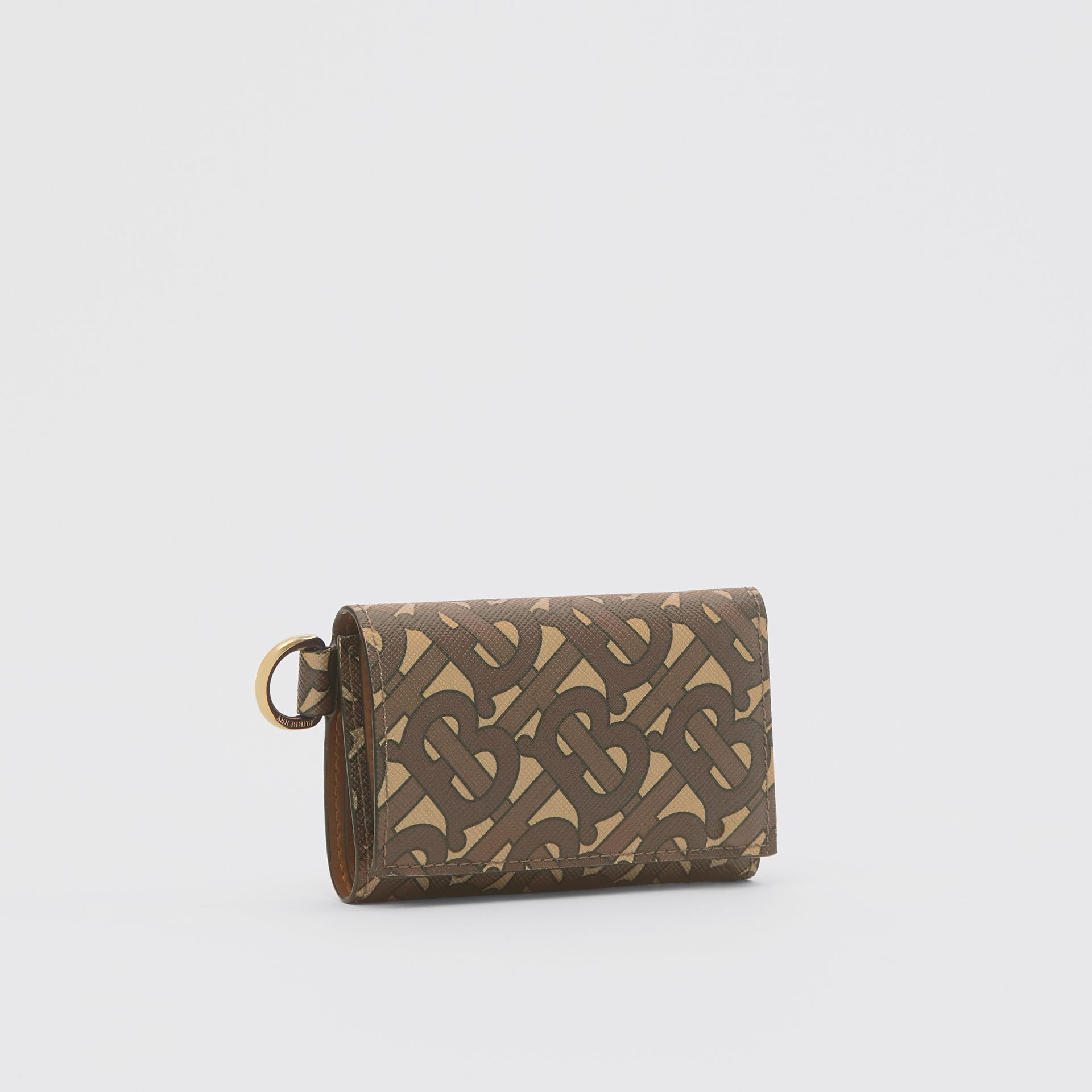 Small Monogram Print E-canvas Folding Wallet in Bridle Brown - Men | Burberry United Kingdom - gallery image 5