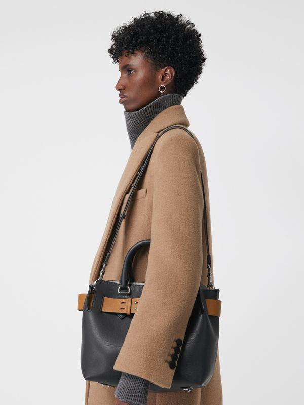 The Small Leather Belt Bag in Black - Women | Burberry Australia - cell image 3