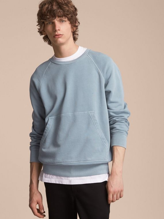 Unisex Pigment-dyed Cotton Oversize Sweatshirt Dusty Blue