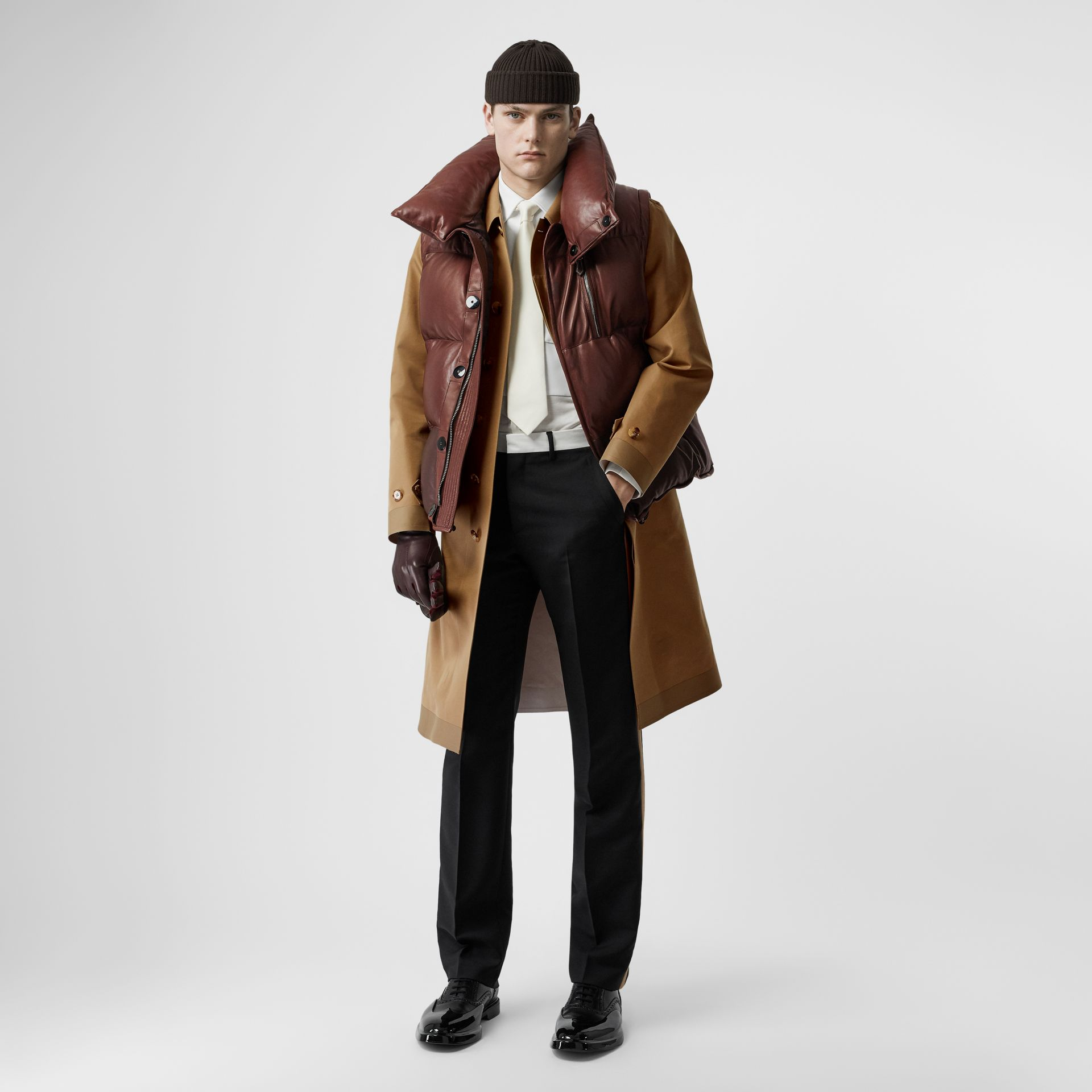 Double-faced Cotton Silk Car Coat in Camel - Men | Burberry - gallery image 0