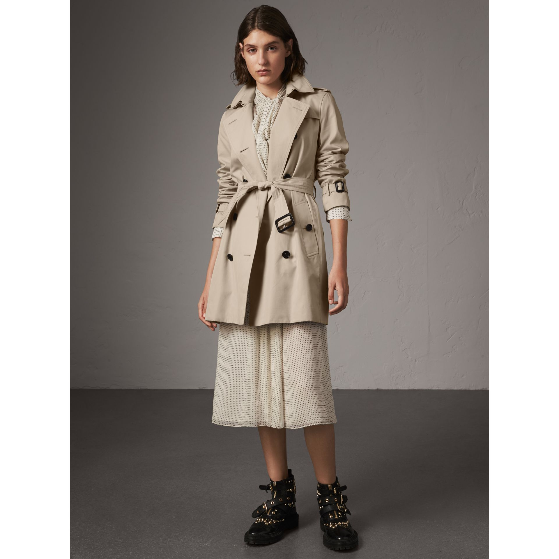 The Kensington – Mid-length Trench Coat in Stone - Women | Burberry United States - gallery image 7