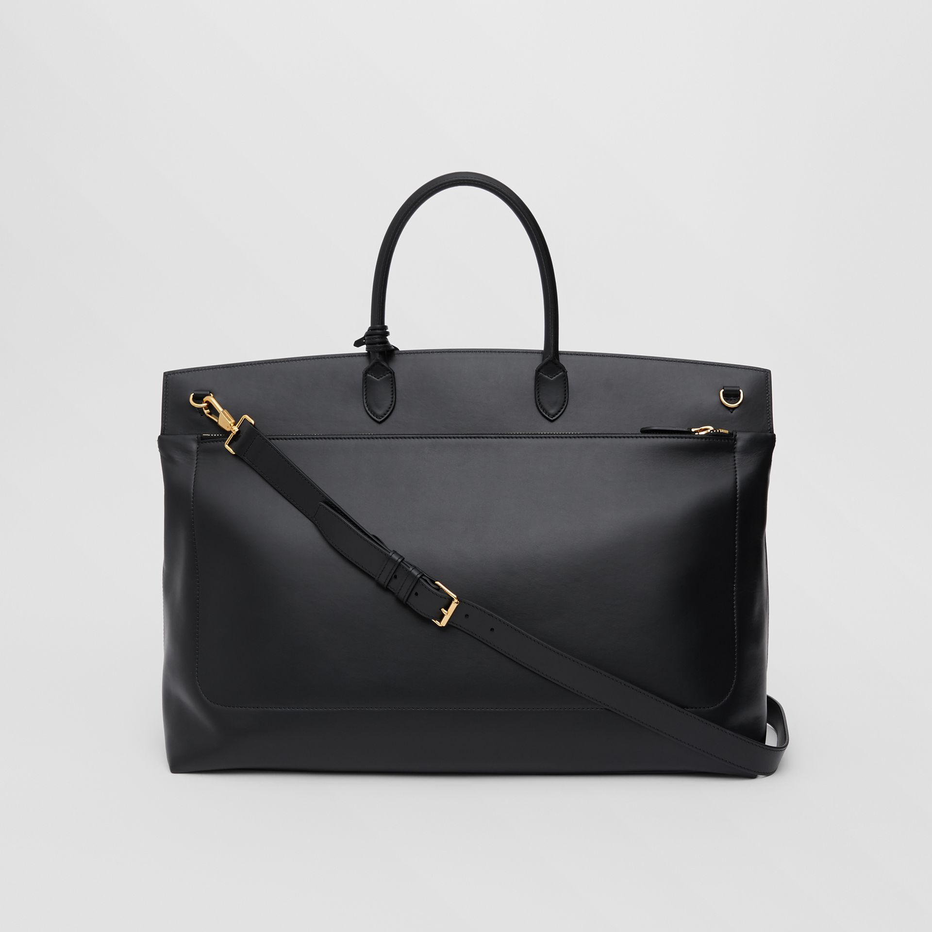 Extra Large Leather Society Top Handle Bag in Black - Men | Burberry Hong Kong S.A.R - gallery image 5