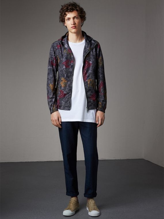 Beasts Print Super-lightweight Hooded Jacket - Men | Burberry Australia