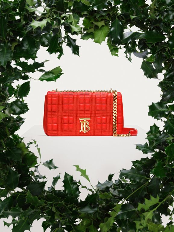 Small Quilted Lambskin Lola Bag in Bright Red - Women | Burberry - cell image 1