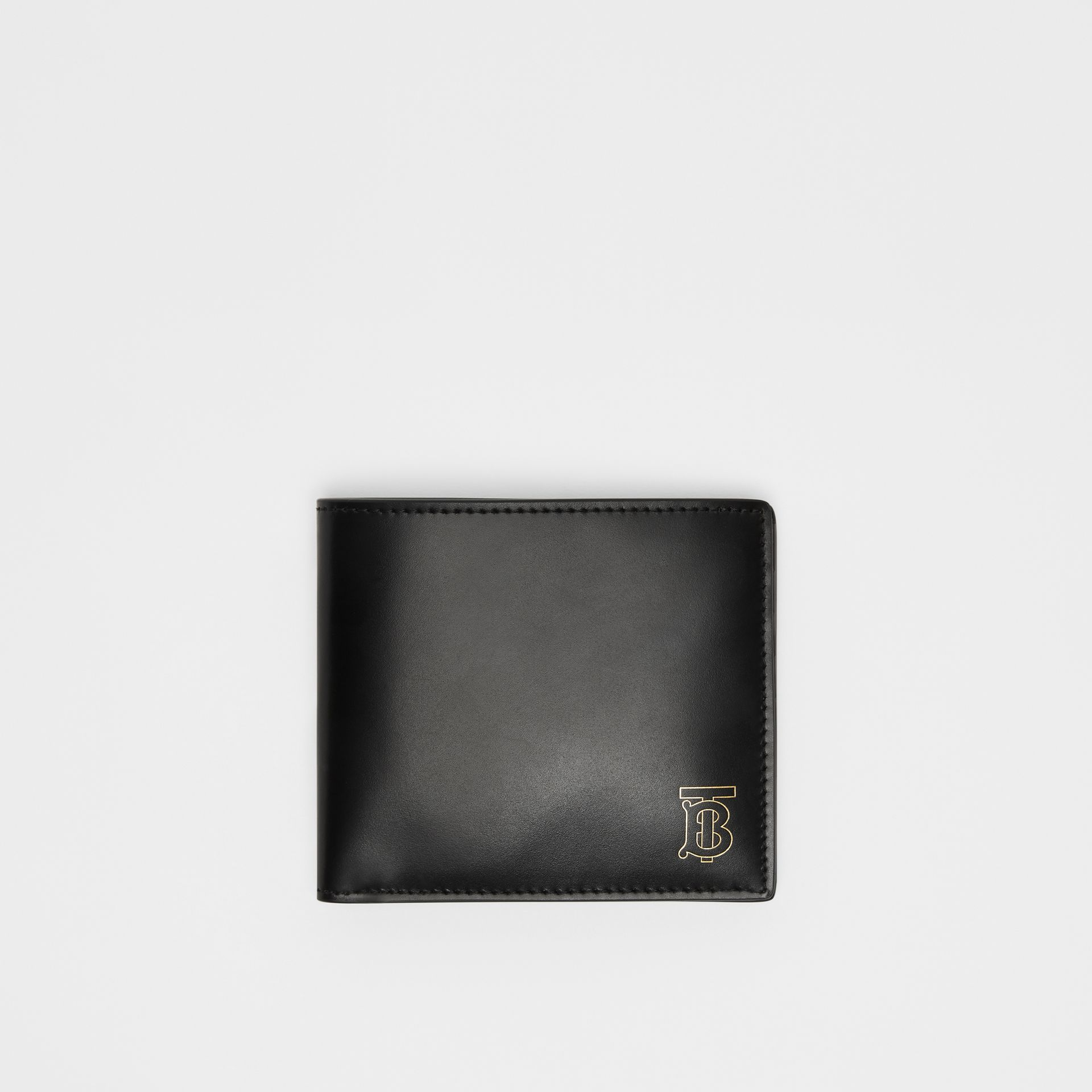 Monogram Motif Leather International Bifold Wallet in Black | Burberry - gallery image 0