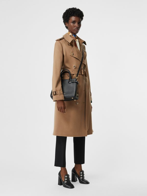 The Small Banner in Leather and House Check in Black - Women | Burberry - cell image 2