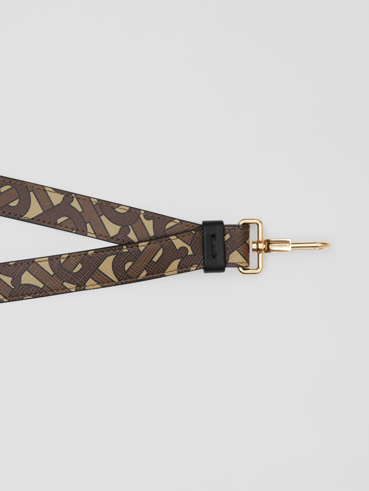 Monogram Print E-canvas and Leather Lanyard in Bridle Brown