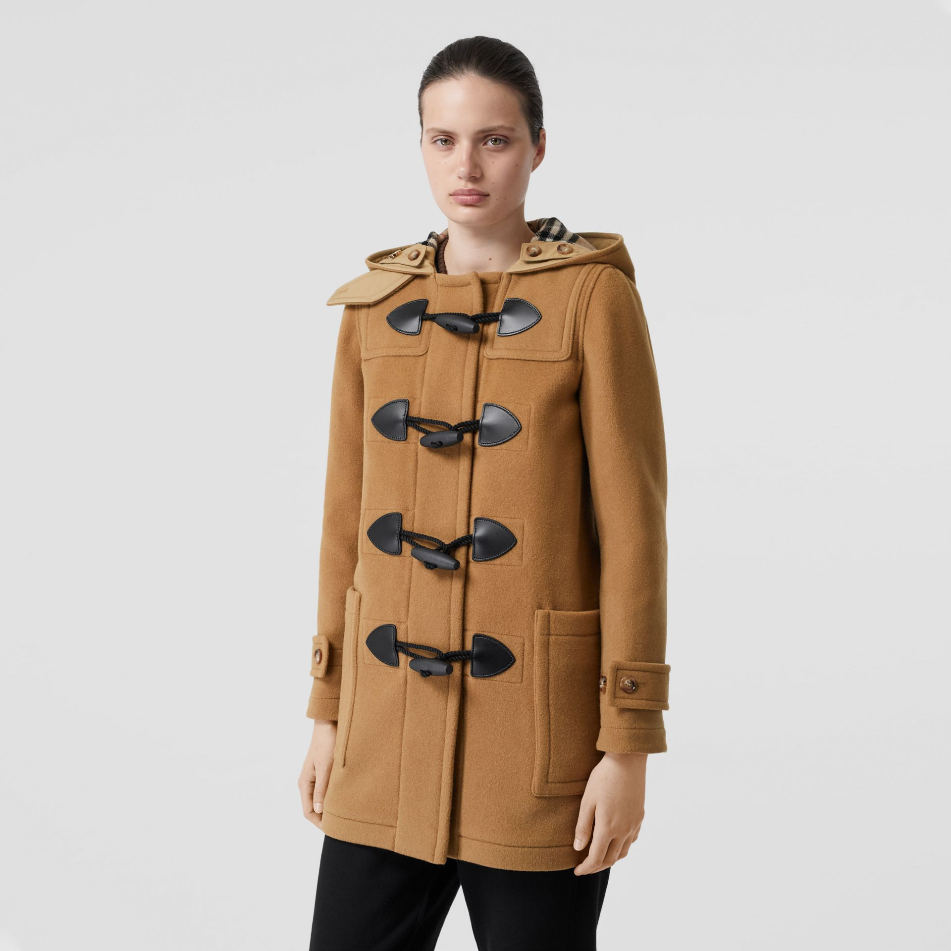 Wool Blend Duffle Coat in Mid Camel - Women | Burberry Singapore - gallery image 5