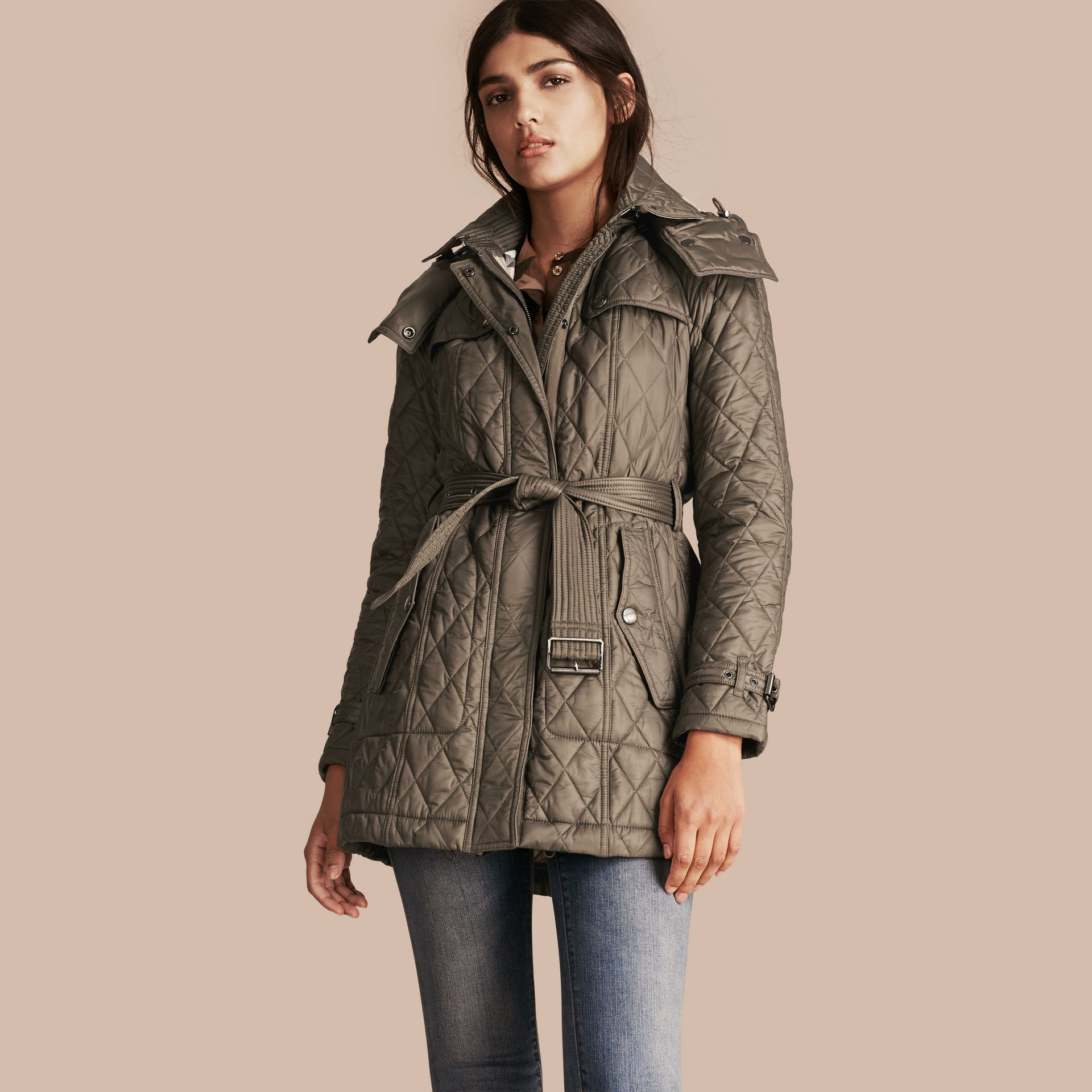 Diamond Quilted Coat - gallery image 1
