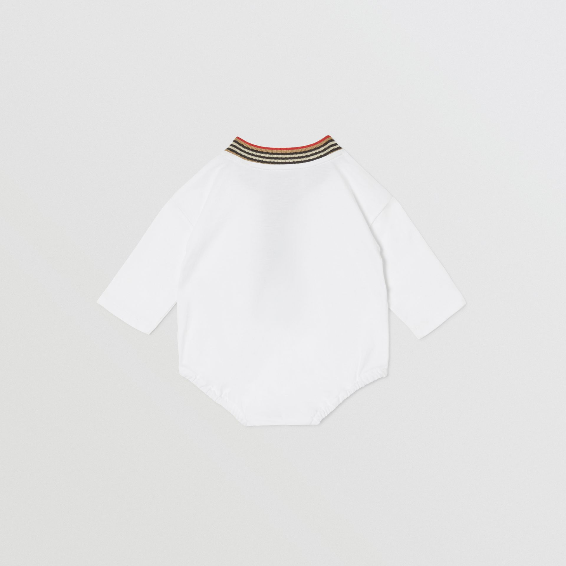 Check Trim Organic Cotton Two-piece Baby Gift Set in White - Children   Burberry United Kingdom - gallery image 4
