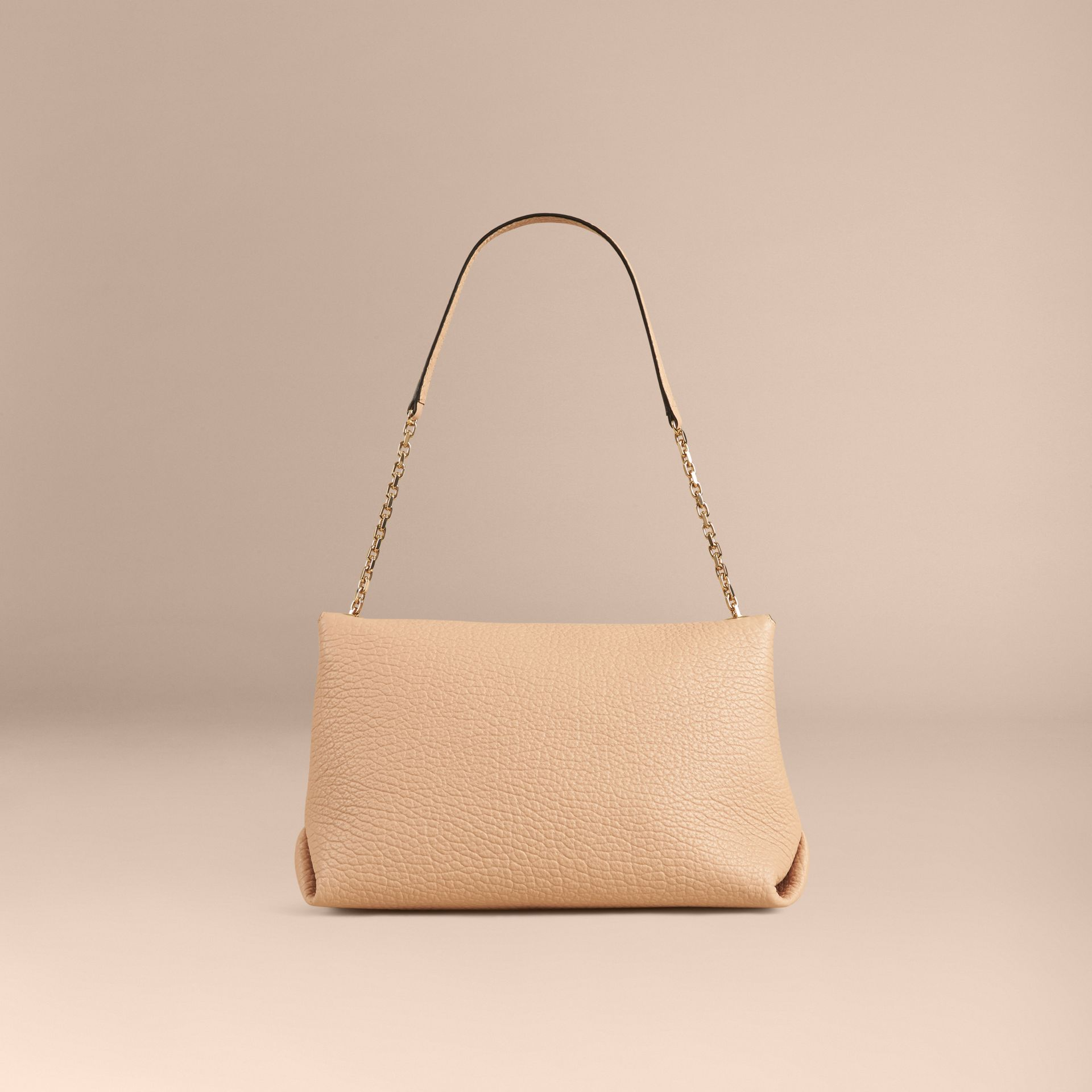 Pale apricot Large Signature Grain Leather Shoulder Bag Pale Apricot - gallery image 3