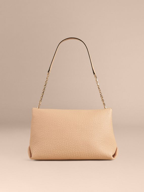 Pale apricot Large Signature Grain Leather Shoulder Bag Pale Apricot - cell image 2