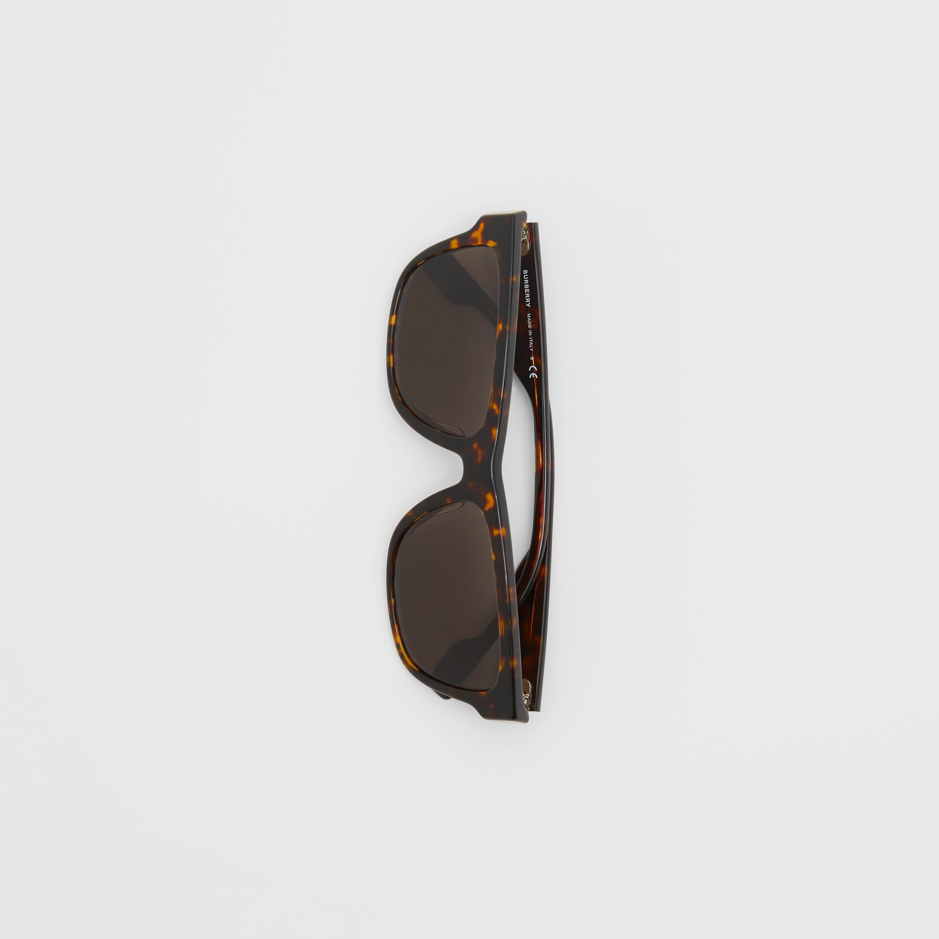 Square Frame Sunglasses in Tortoiseshell - Men | Burberry - gallery image 2