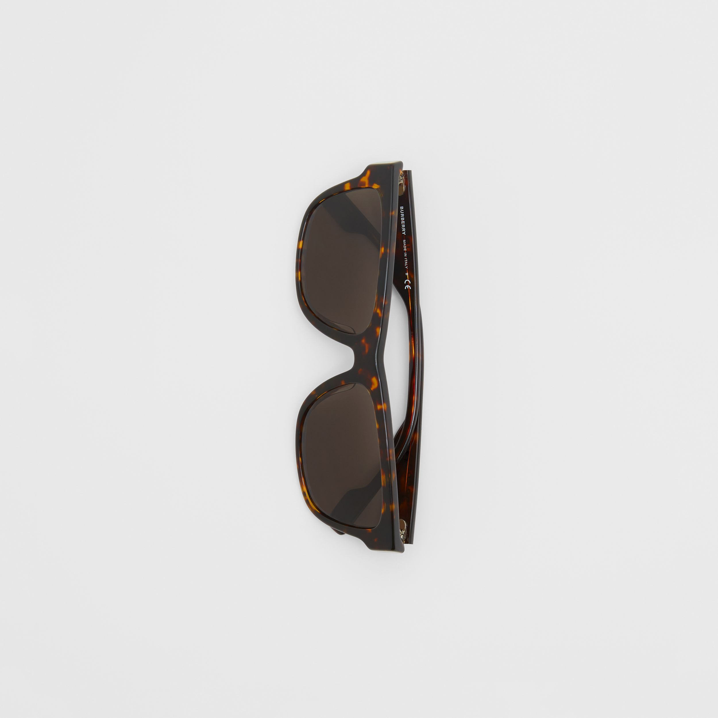 Square Frame Sunglasses in Tortoiseshell - Men | Burberry - 3
