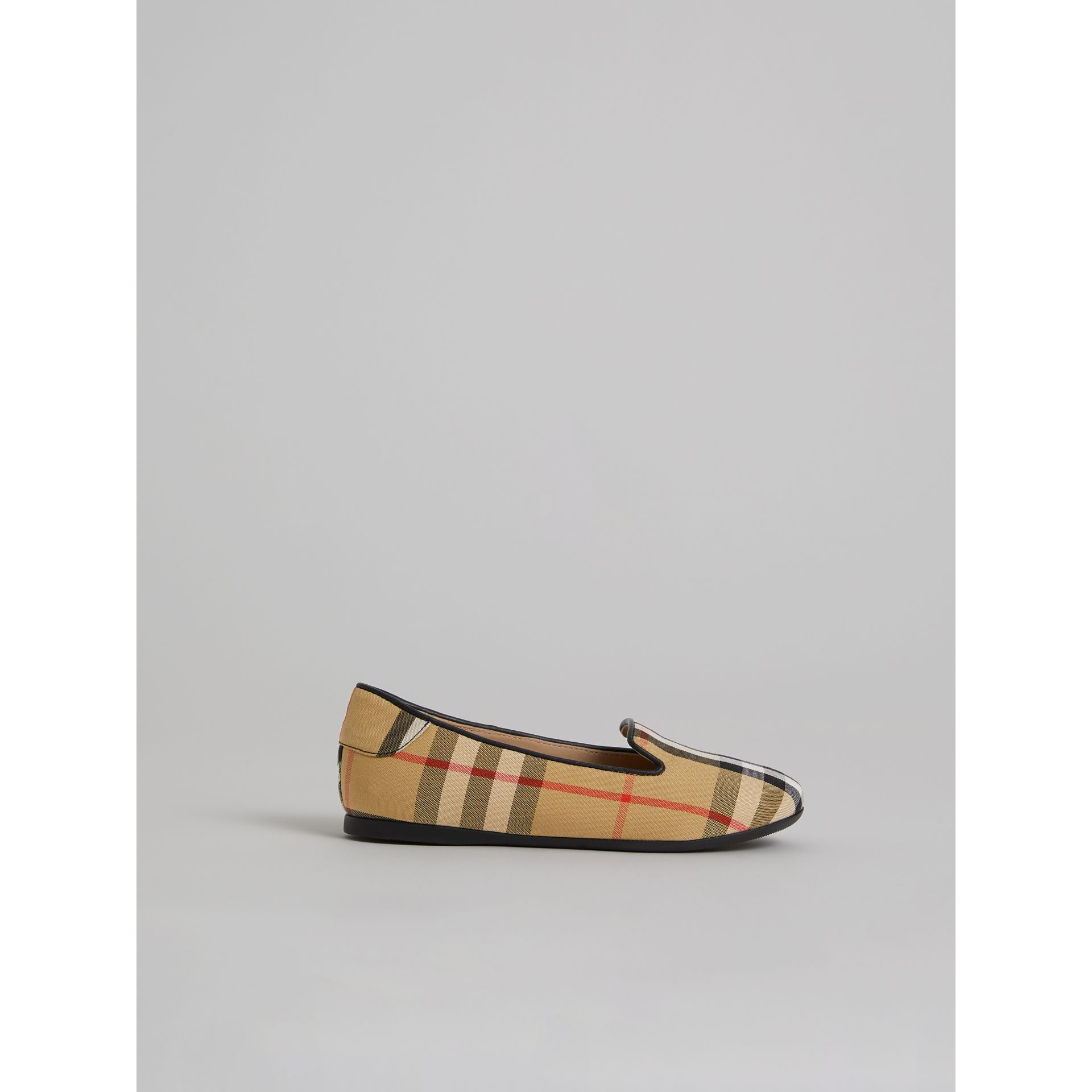 Vintage Check Slippers in Antique Yellow - Girl | Burberry - gallery image 3