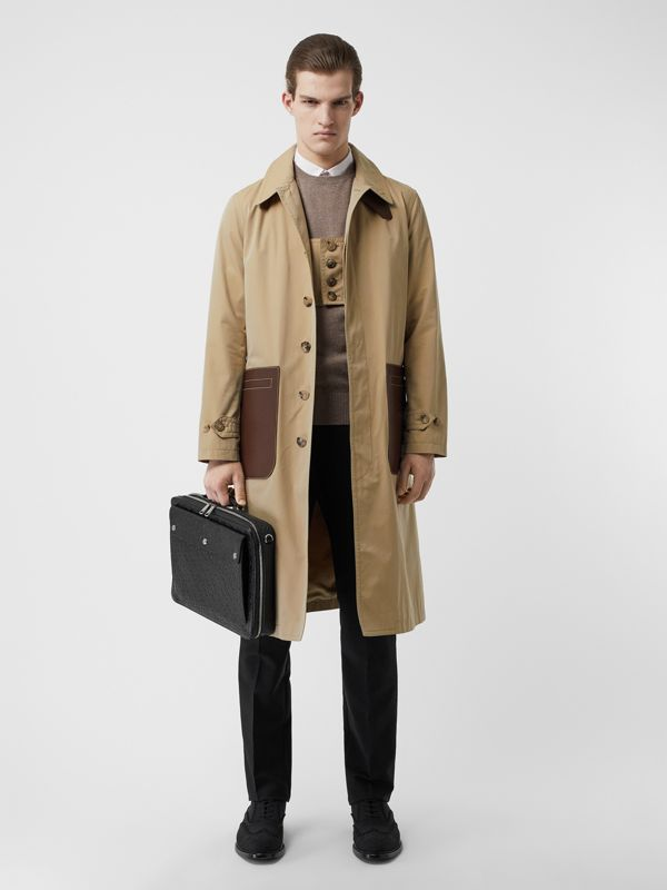 Attaché-case en cuir Monogram à triple pression (Noir) - Homme | Burberry Canada - cell image 2