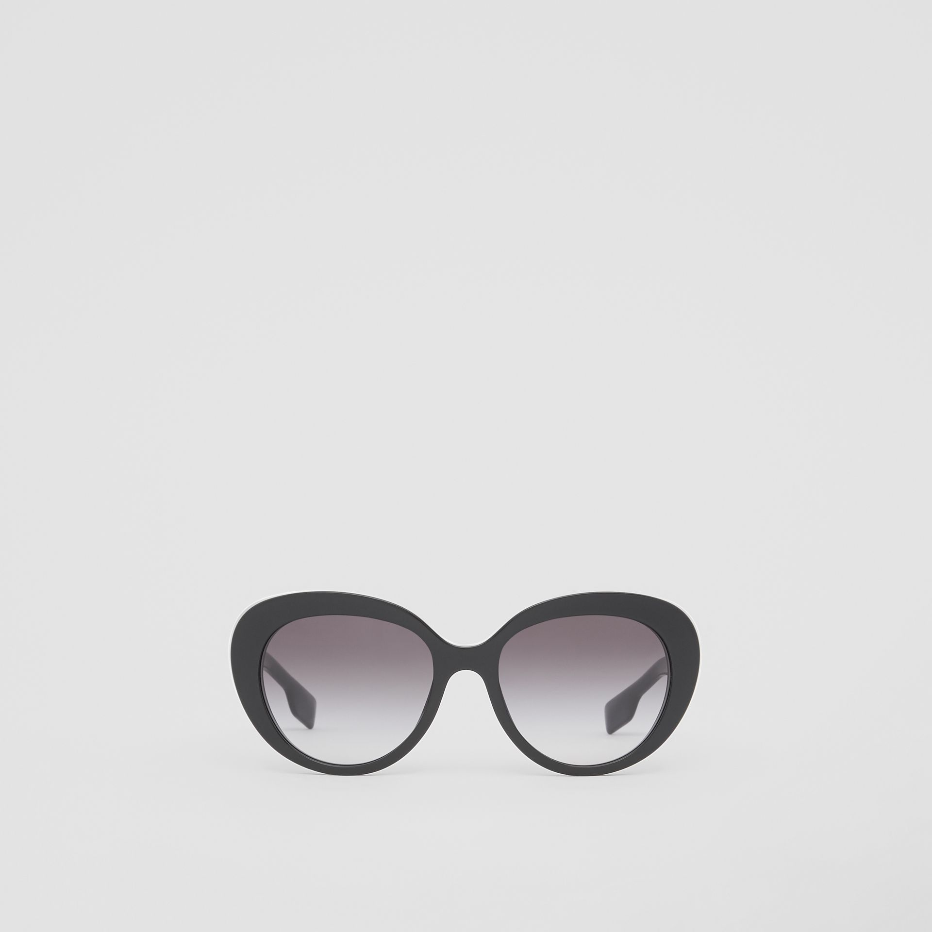 Monogram Motif Cat-eye Frame Sunglasses in Black - Women | Burberry - gallery image 0