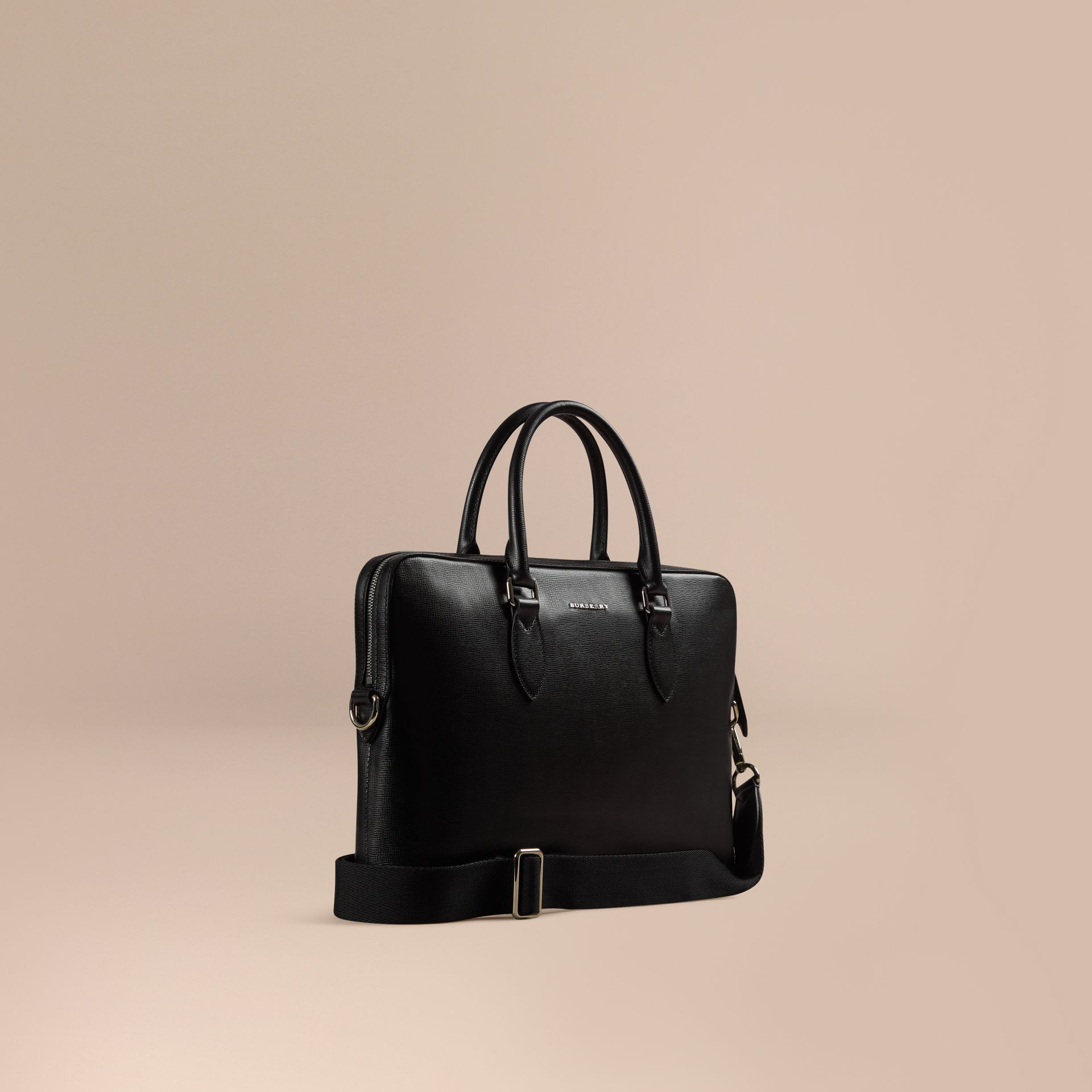 The Slim Barrow in London Leather Black - gallery image 1