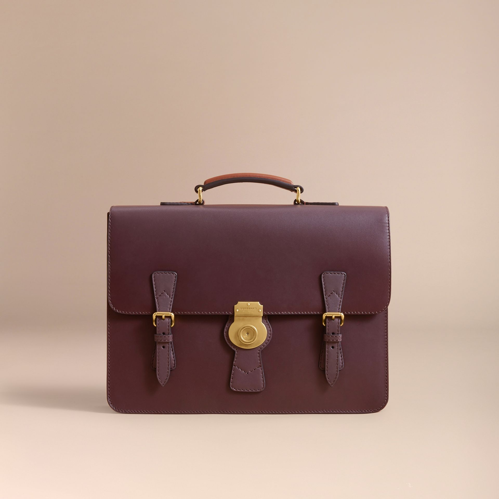 The Medium DK88 Satchel in Wine - Men | Burberry Singapore - gallery image 5