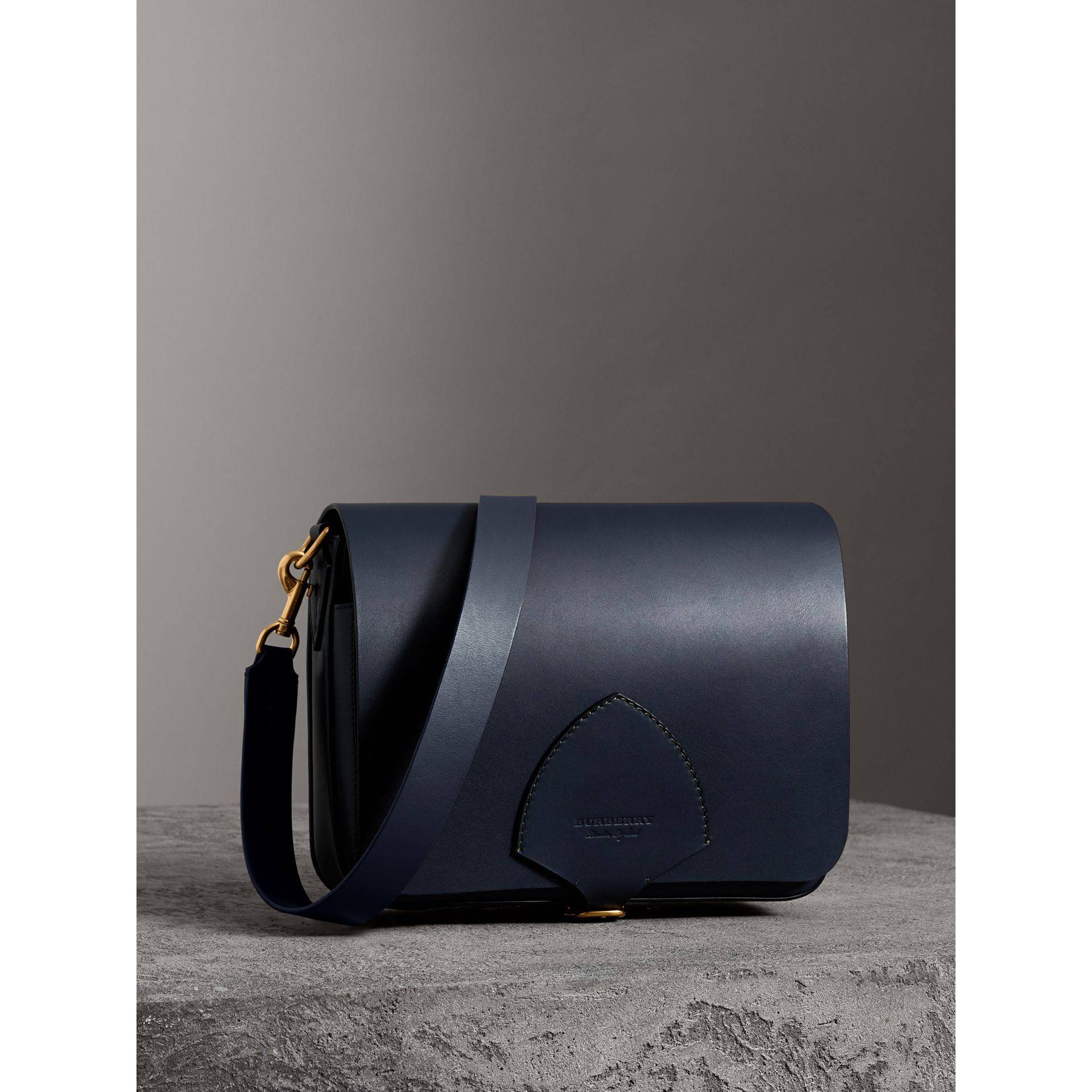 The Large Square Satchel in Leather in Mid Indigo - Women | Burberry United States - gallery image 7