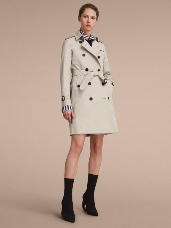 Trench coat Kensington - Trench coat Heritage largo Piedra