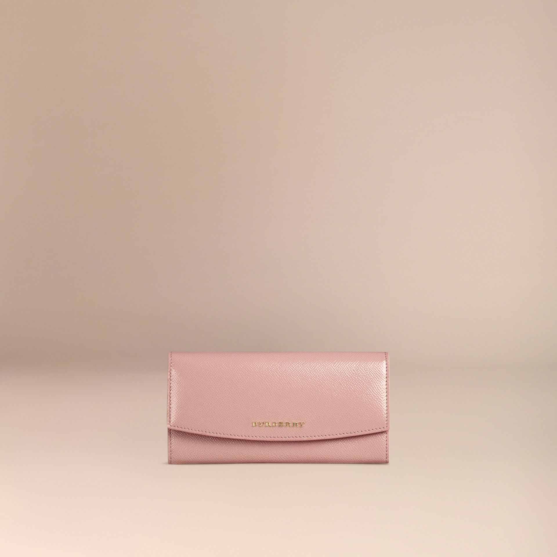 Ash rose Patent London Leather Continental Wallet Ash Rose - gallery image 3