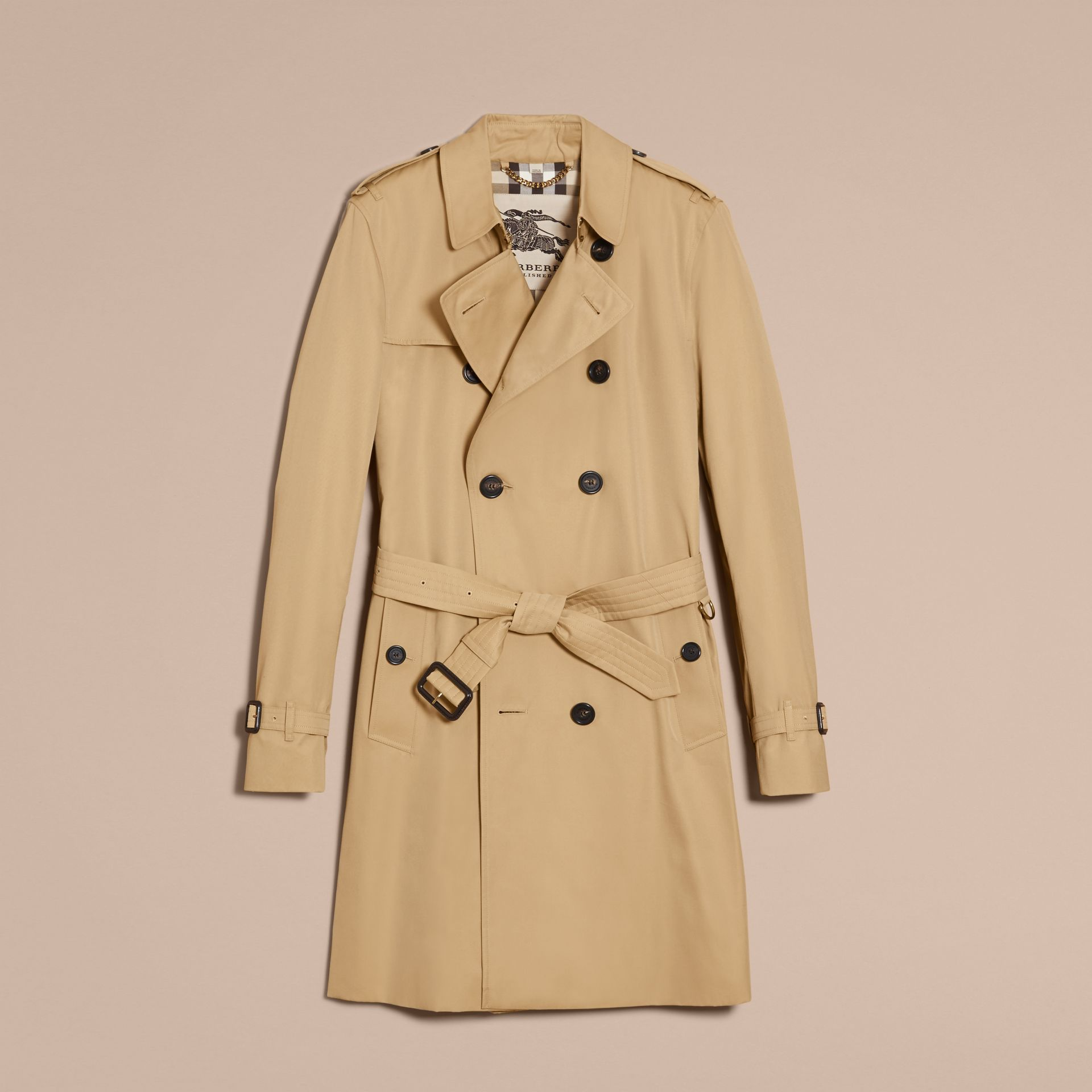 Honey The Kensington – Long Heritage Trench Coat Honey - gallery image 4
