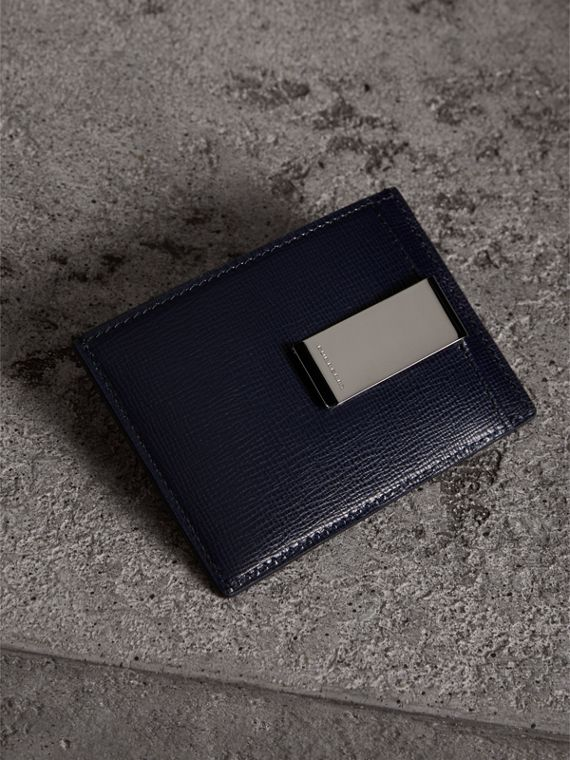 Porta carte di credito con fermasoldi in pelle London (Navy Scuro) - Uomo | Burberry - cell image 2