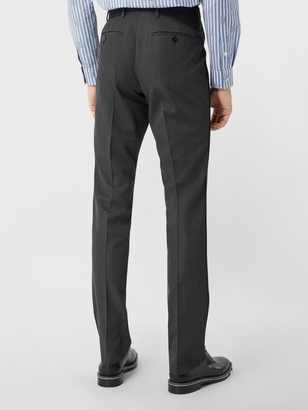 Classic Fit Panelled Wool Tailored Trousers in Charcoal - Men   Burberry United Kingdom - cell image 2