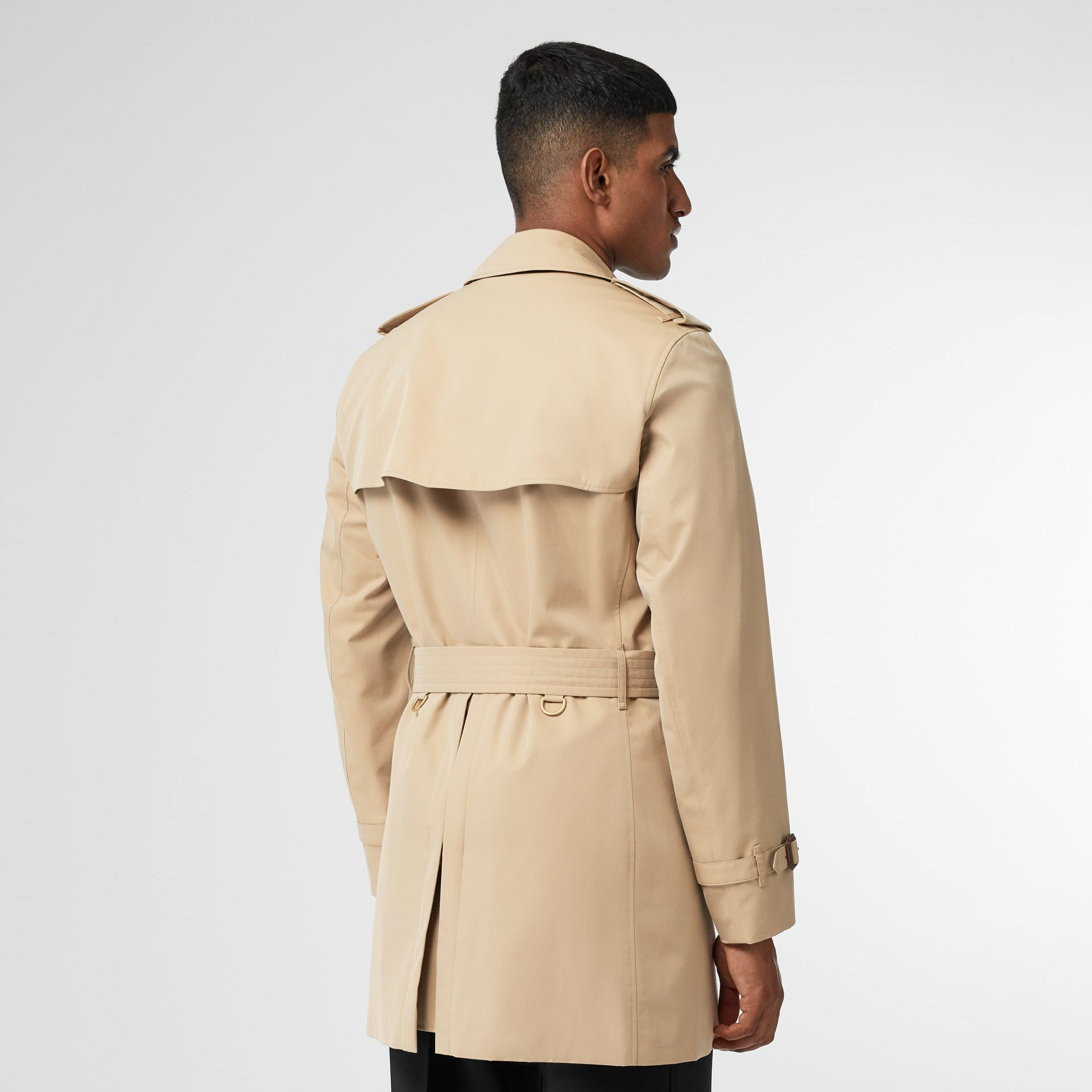 Short Chelsea Fit Trench Coat in Honey - Men | Burberry - gallery image 1