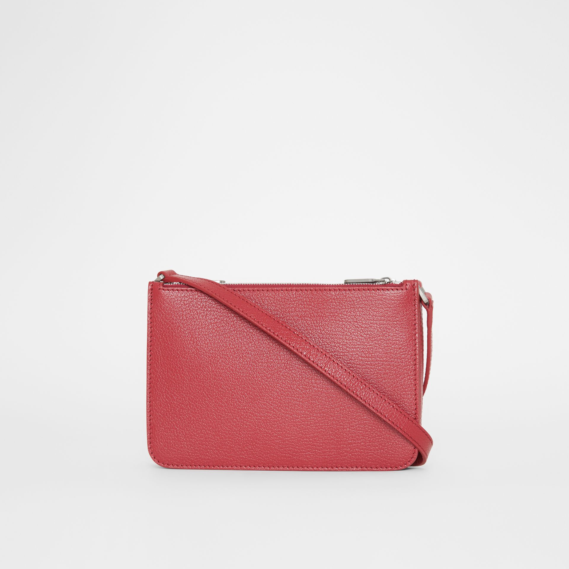 Triple Zip Grainy Leather Crossbody Bag in Crimson - Women | Burberry - gallery image 7