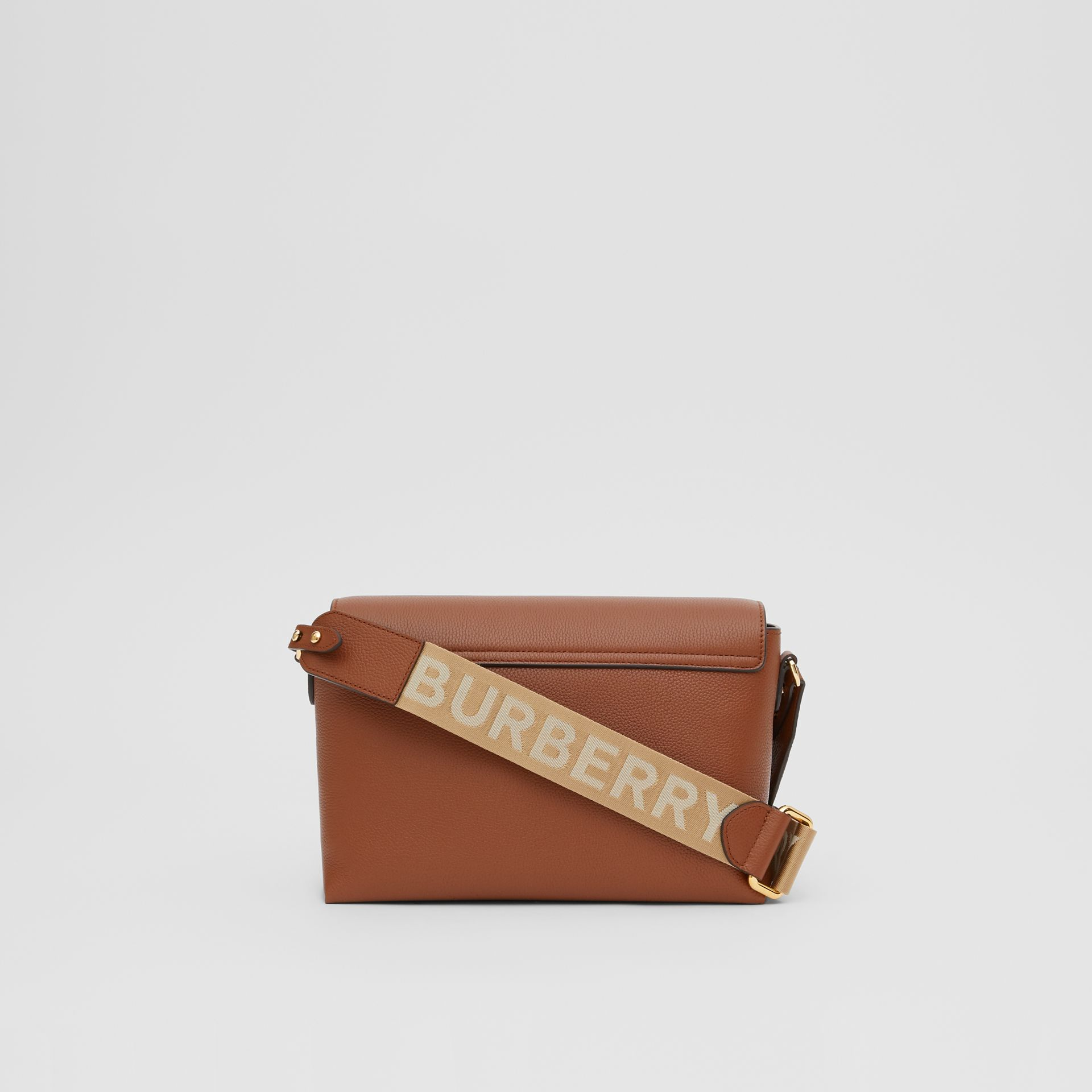 Leather and Vintage Check Note Crossbody Bag in Tan - Women | Burberry United States - gallery image 7