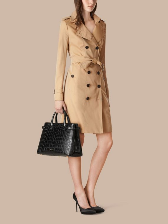 The Medium Banner in Alligator in Black - Women | Burberry United Kingdom - cell image 2
