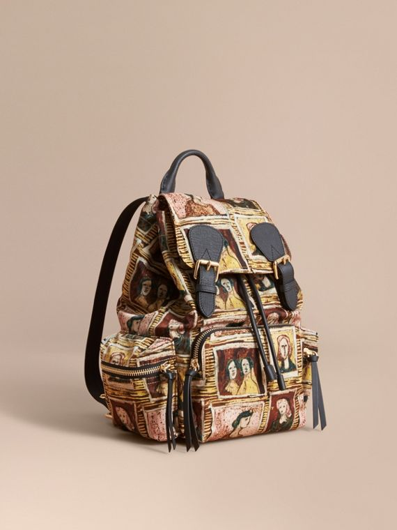 The Medium Rucksack in Framed Heads Print