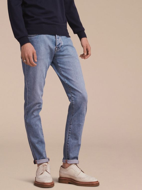 Relaxed Fit Stretch Jeans - Men | Burberry Singapore