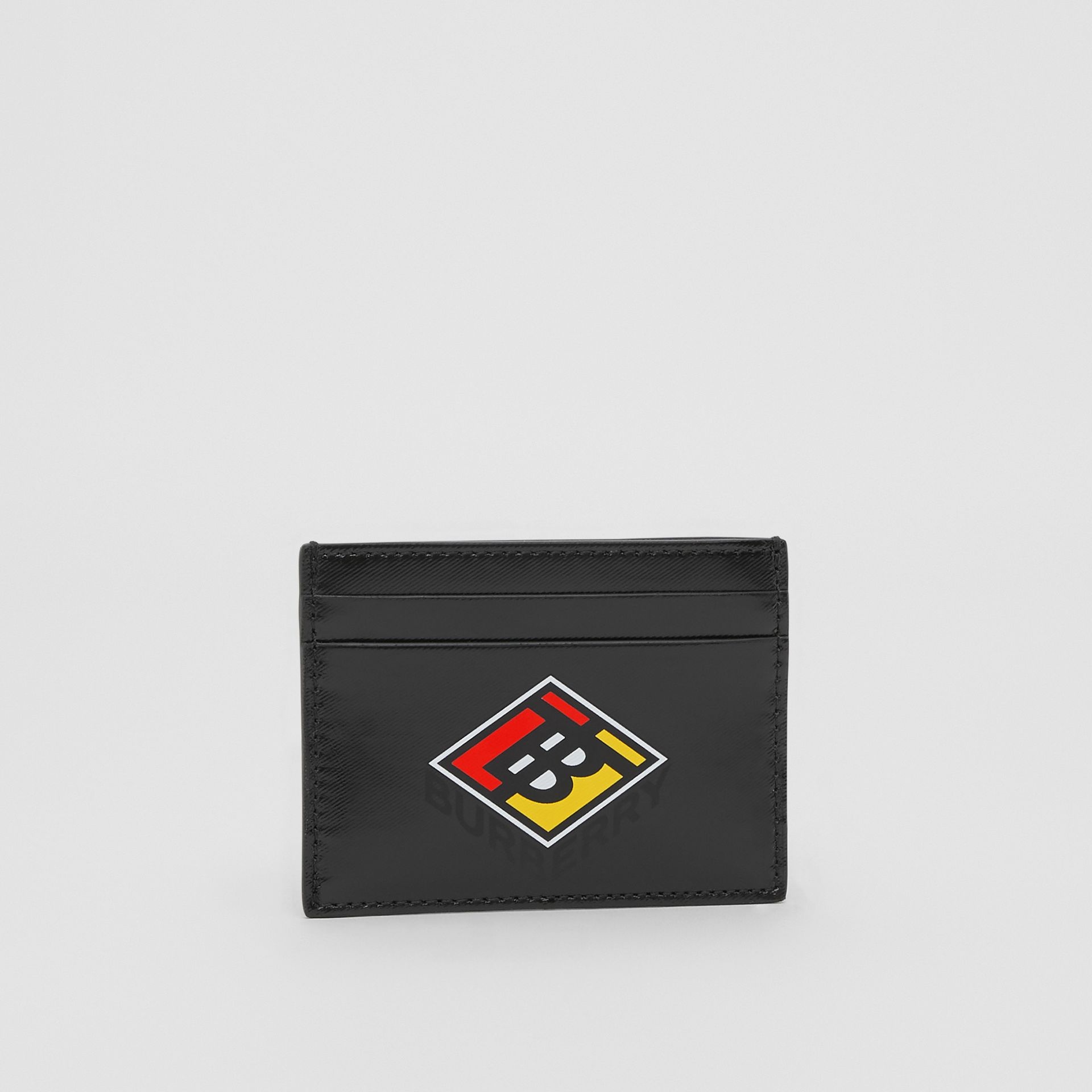 Logo Graphic Canvas Card Case in Black - Men | Burberry - gallery image 4