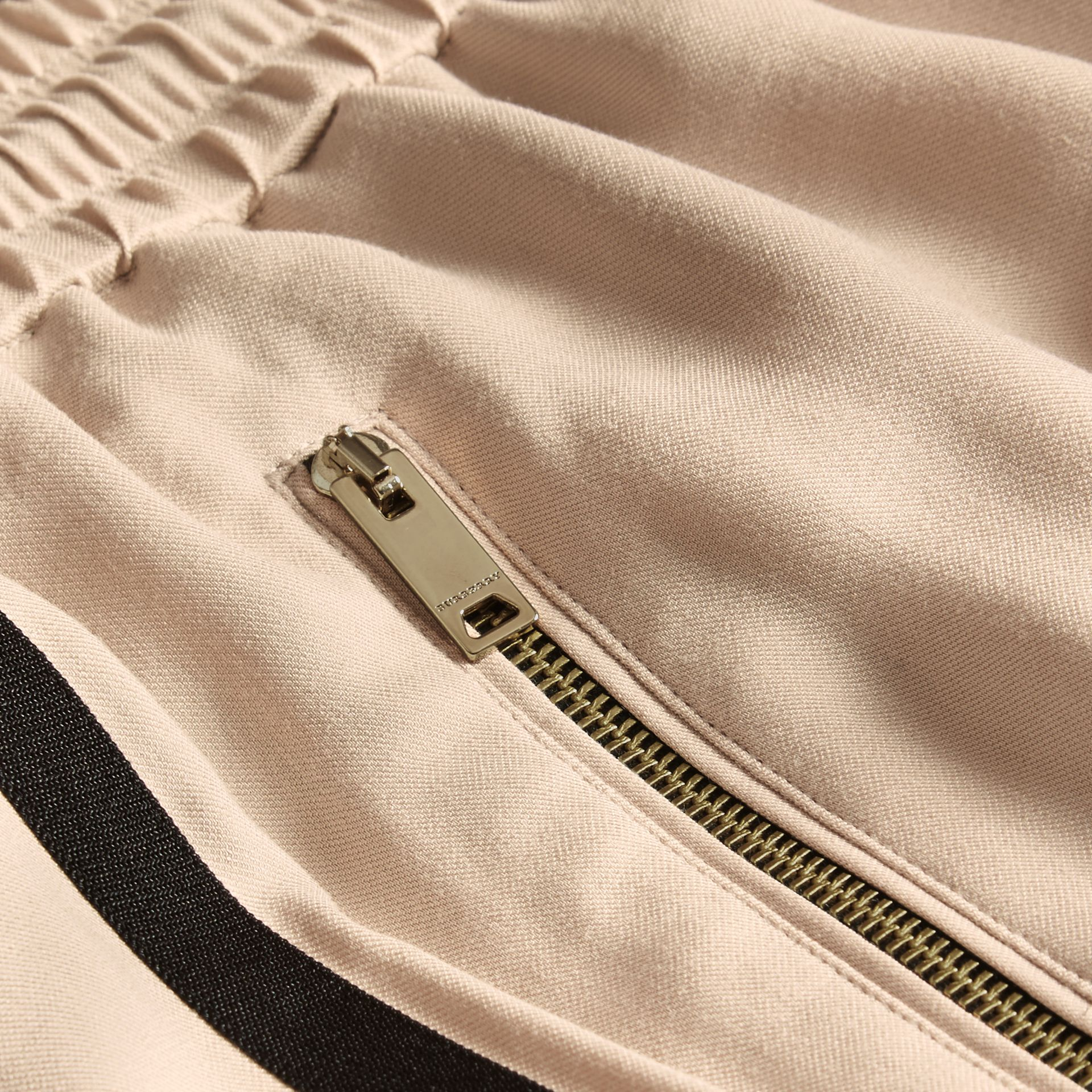 Stone Zip Detail Jersey Sweat Pants Stone - gallery image 2