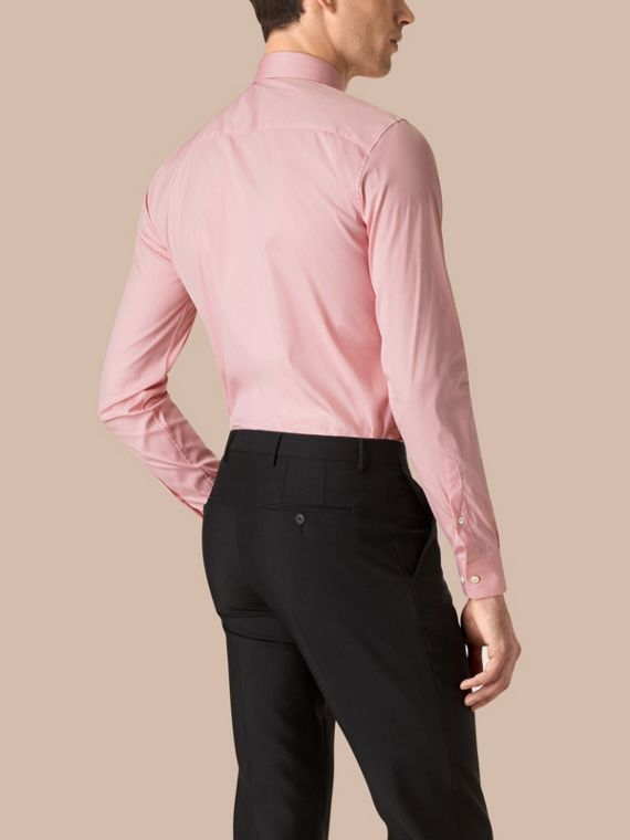 City pink Slim Fit Stretch Cotton Poplin Shirt City Pink - cell image 2