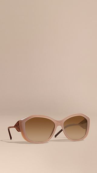 Gabardine Lace Collection Square Frame Sunglasses