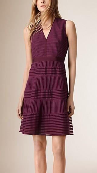 Panelled Mesh Dress