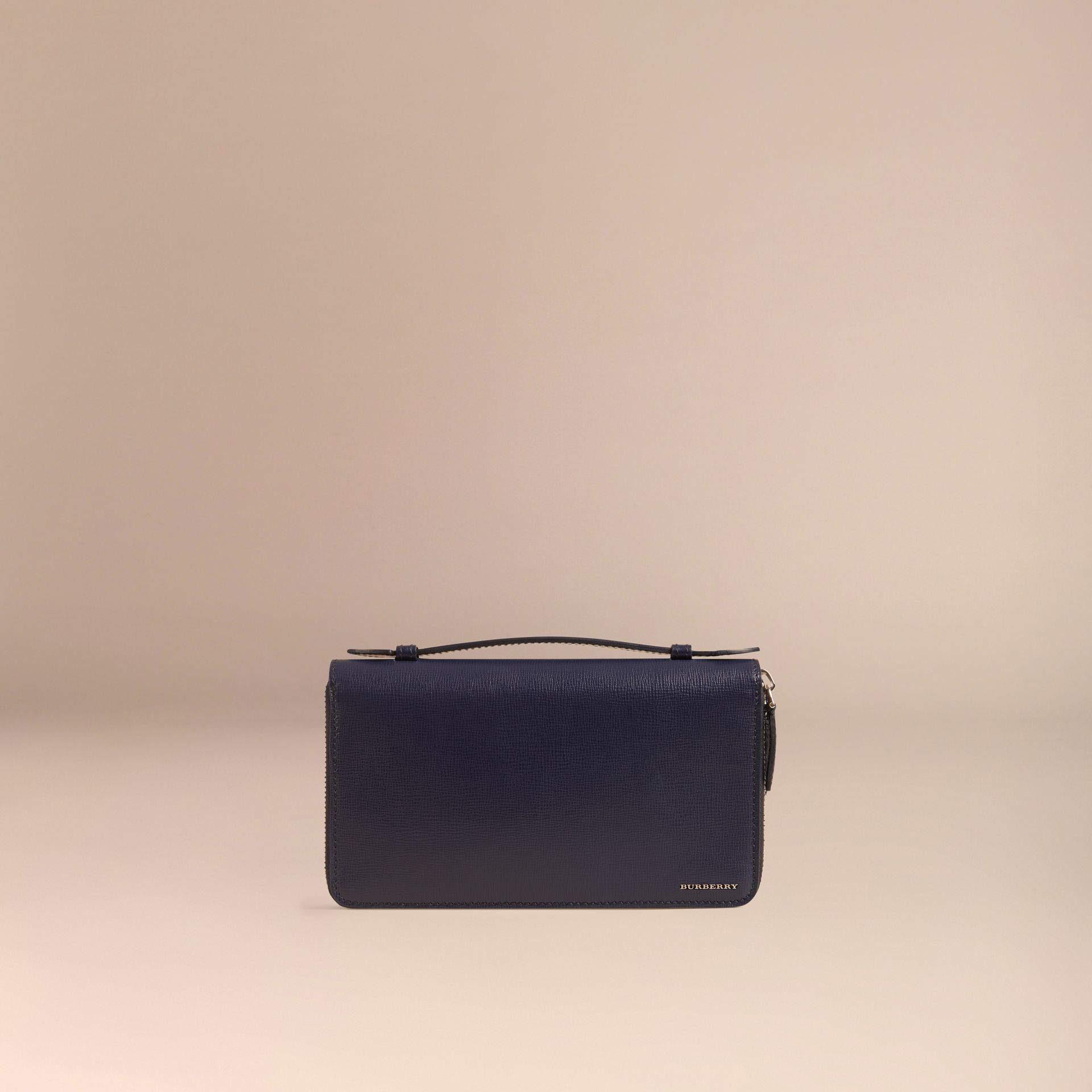 Dark navy London Leather Travel Wallet Dark Navy - gallery image 3