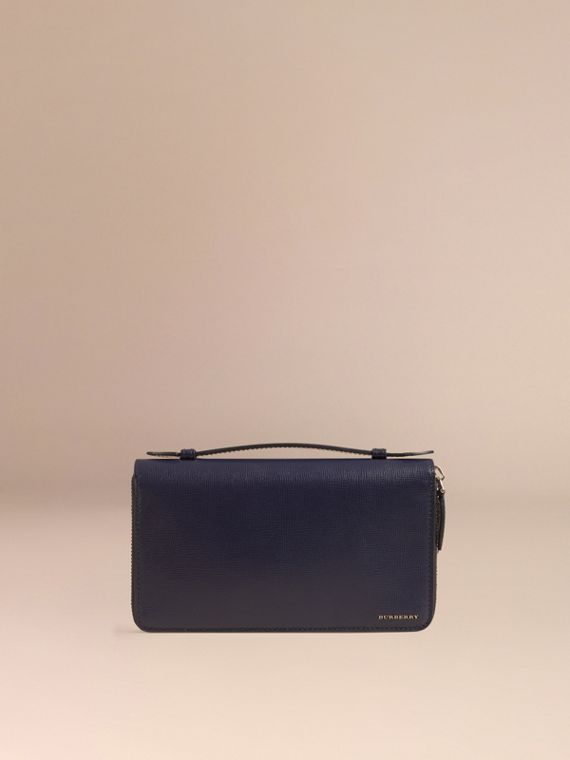 London Leather Travel Wallet in Dark Navy - Men | Burberry Singapore - cell image 2