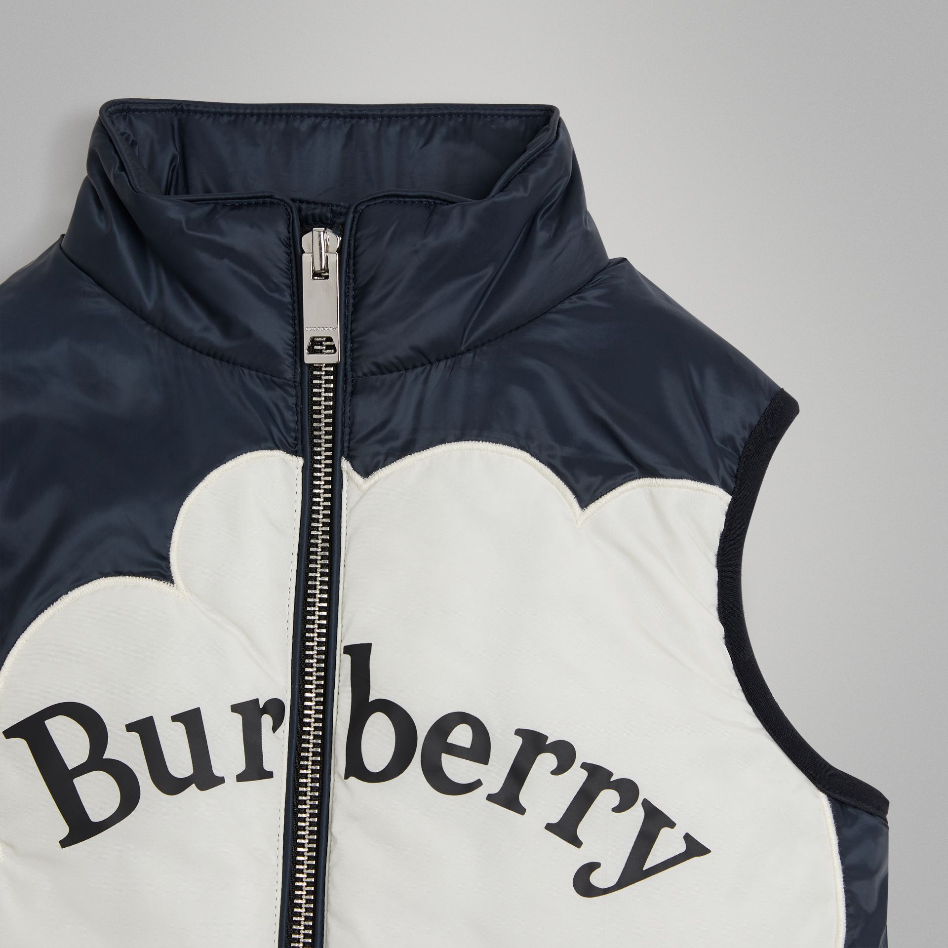 Rainbow Graphic Showerproof Down-filled Gilet in Midnight | Burberry United Kingdom - gallery image 5
